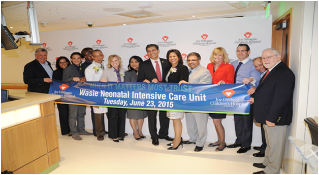 Opening of Wasie Neonatal Intensive Care Unit – Joe DiMaggio Children's Hospital image